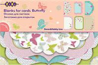 Заготовка для открыток, Butterfly, 10.2*15,3 см, Zibi, ZB.18205-AF, 4026714