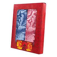 Набор махровых полотенец Роза в подарочной упаковке