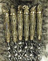 Шампура Дикие звери в кожаном колчане