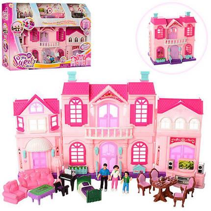 Кукольный дом My Happy Family 16427C. Двухэтажный с мебелью. 3 куклы, фото 2