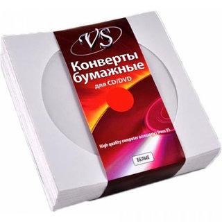 VS конверт для CD і DVD дисків білий з віконцем
