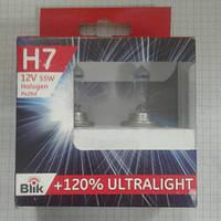Лампа H 7 12V55W Px26d Галоген +120% комплект BLIK