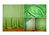 Готовая тюль - вуаль Зелёная (зелень)