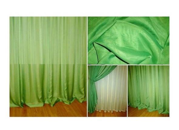 Готовая тюль - вуаль Зелёная (зелень), фото 2