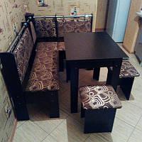 Кухонный уголок Гетьман с раскладным столом и табуретами. Честная цена!