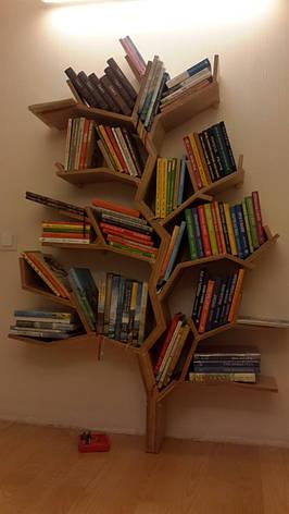 Полка деревянная МДФ для книг Дерево , фото 3