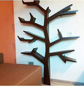 Полка деревянная МДФ для книг Дерево, фото 2