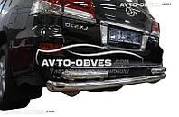 Защита заднего бампера Lexus LX570 (2015 - ...), прямая труба с доп.углами