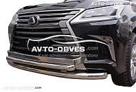 Двойной ус для Lexus LX570 2015-2018, Ø76*60мм