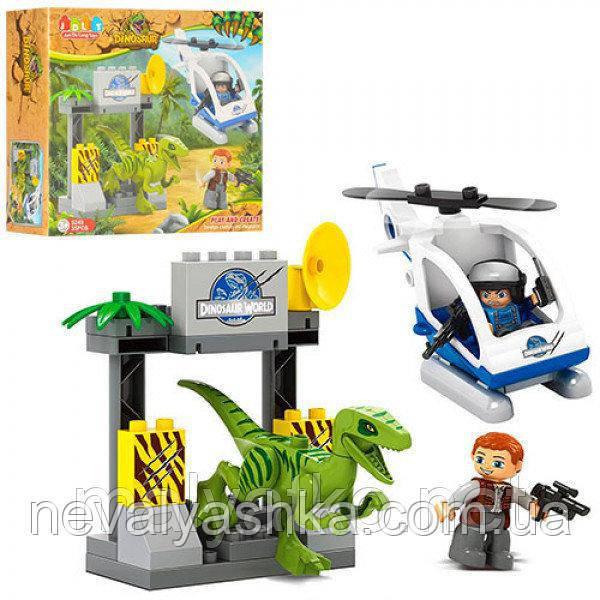 Конструктор JDLT Динозавр и Вертолет, 35 дет., 5249, 003922