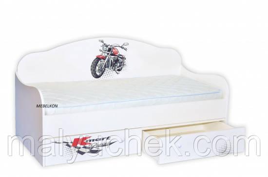 Кроватка диванчик Гонщик\мотоцикл