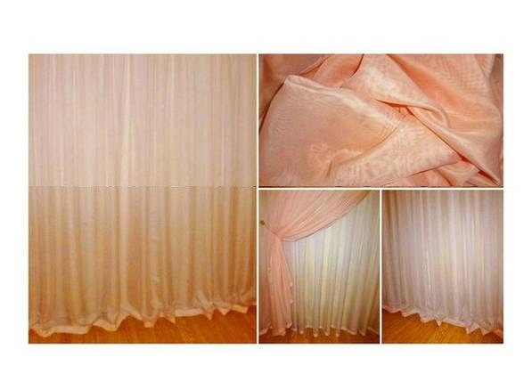 Готовая тюль - вуаль Персиковая, фото 2