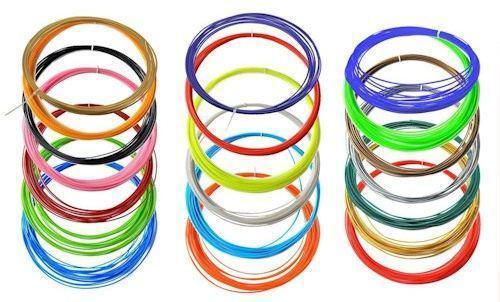 Набор пластика для 3D ручки АВS 15 цветов по 10м