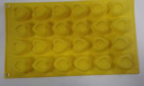 Форма силиконовая сердца 24 шт 3,5 см на 3,5 см