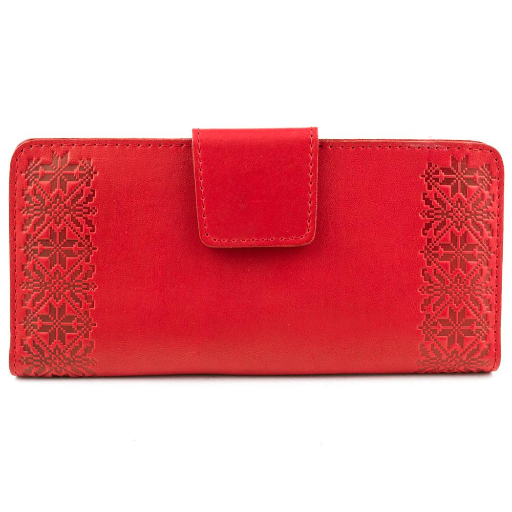 240a602cb57e Кошелек женский кожаный К1-07 (красный с тиснением): продажа, цена в ...