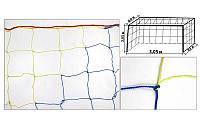 Сетка на ворота футзальные, гандбольные любительская (2шт)  (капрон 1,2мм, яч.12см)