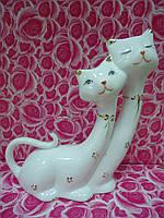 Коты Пара Белый фарфор