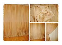 Готовая тюль-вуаль Светло-коричневая (Какао)