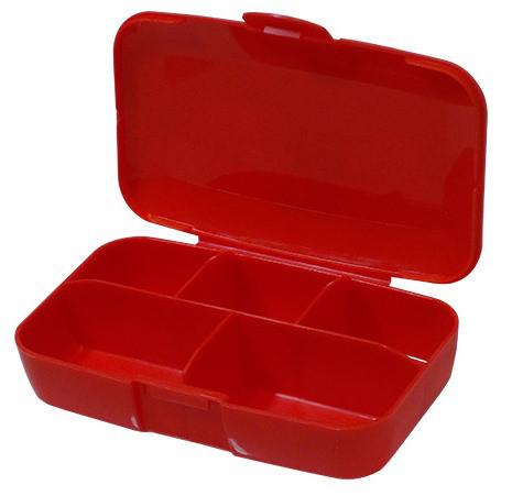 Buchsteiner таблетница-контейнер PillMaster Klickboxes red