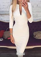 Классическое платье - футляр белое 022/01, фото 1