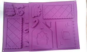 Форма силиконовая для выпечки Дом (15см/12см) в комплекте 2 шт