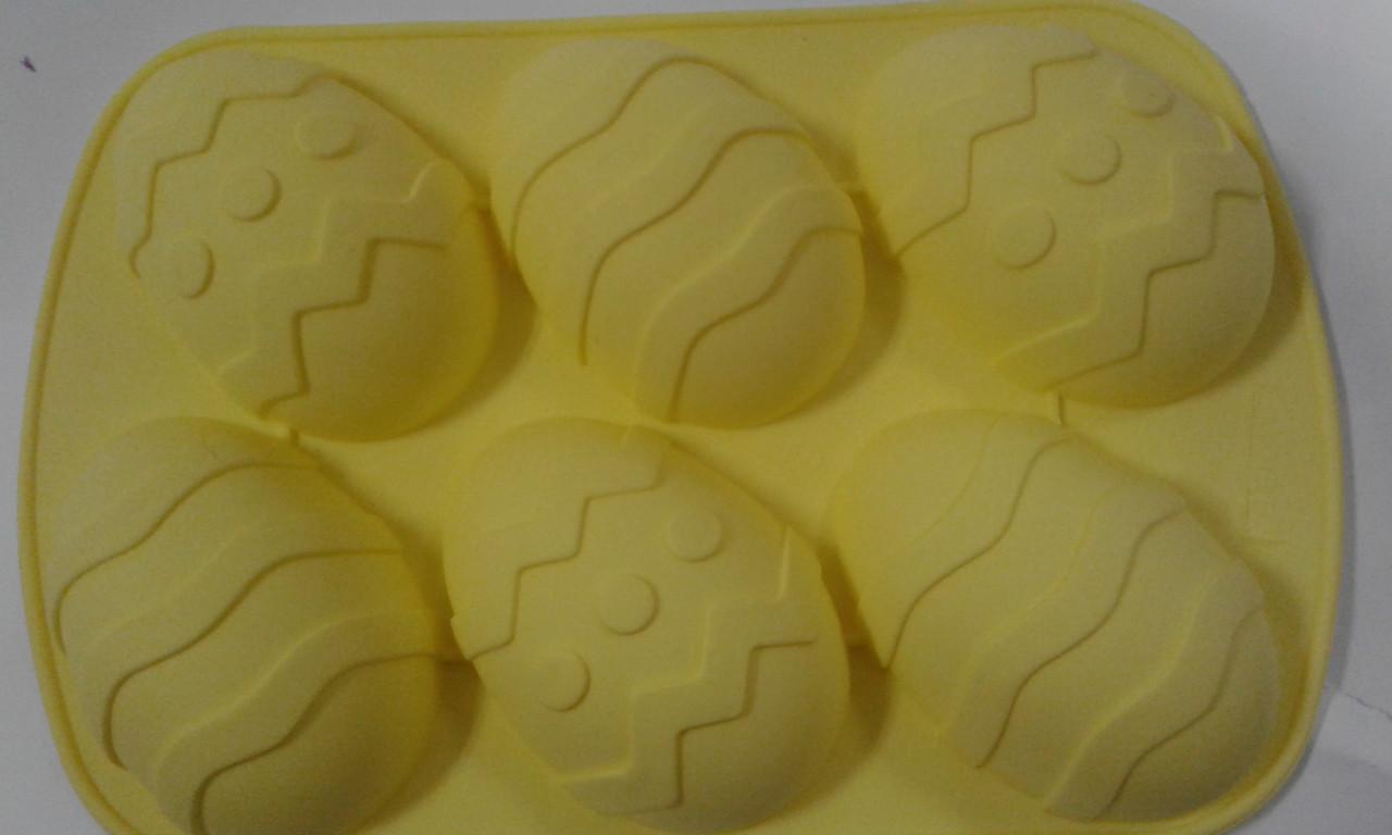 Форма силиконовая пасхальная яйца 6 шт