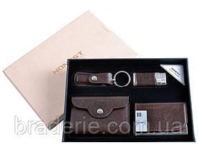 Подарочный набор Honest 3058 визитница, зажигалка, картхолдер и брелок-кусачки