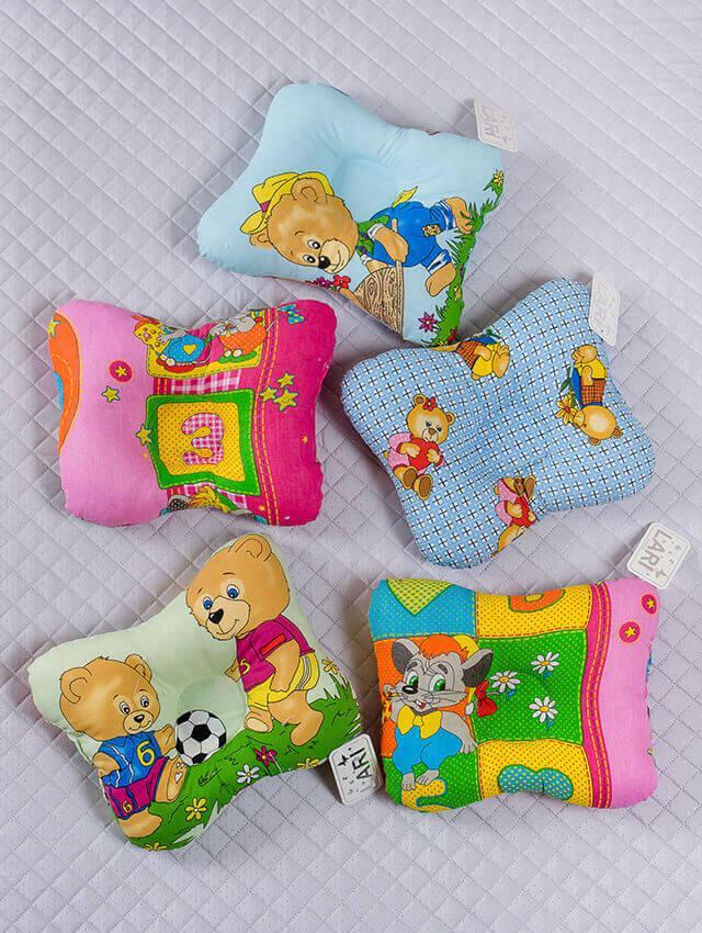 Ортопедическая подушка для новорожденных (разноцветные)