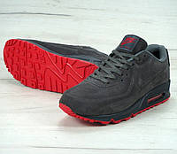 Зимние кроссовки Nike Air Max 90VT grey Winter с мехом. Живое фото (аир макс, аир макс)