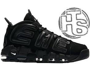 Мужские кроссовки Nike Air More Uptempo x Supreme Triple Black 902290-001