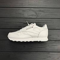 Кроссовки Reebok Classic Leather White. Топ качество. Живое фото! (Реплика ААА+)