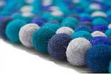 Ковры из войлочных шариков, валяные ковры, разноцветные необычные ковры купить Киев, фото 2