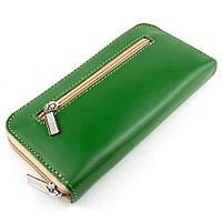 Женский кожаный кошелек на молнии LIKA (зеленый-2), фото 1