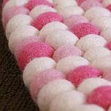 Ковры из войлочных шариков, валяные ковры, разноцветные необычные ковры купить Киев, фото 4