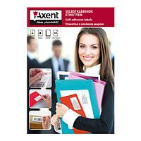 Самоклеючі етикетки Axent 2466-A А4,100 аркушів, універсальні - 24 штуки на лист, закруглені краї