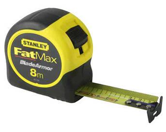 """Рулетка вимірювальна STANLEY"""" FatMax Blade Armor"""", 8мх32мм, АВС-пластиковий корпус."""