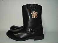 Сапоги мужские кожаные черные Liberto 46р.