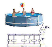 Бассейн каркасный Intex 28700 Prism Frame Pool 305 х 76 см, фото 1