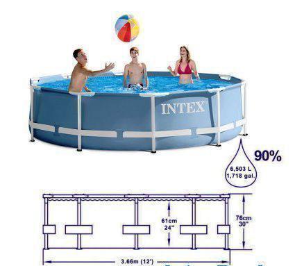 Бассейн каркасный Intex 28700 Prism Frame Pool 305 х 76 см