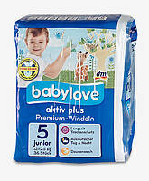 Подгузники Babylove aktiv plus Junior (12-25 кг) 36 шт.