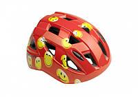 Шлем KLS Smarty детский красный смайл M (54-58см)