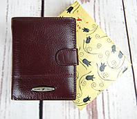 Небольшой мужской кожаный кошелек. Портмоне мужской. Натуральная кожа ЕК33, фото 1