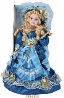 """Кукла фарфоровая ТМ """"KEVINA"""", h = 40см , платье в викторианском стиле, в подарочной коробке"""