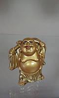 Смеющий Будда (Хоттей) с жезлом Жуи и мешком богатства Статуэтка Под золото