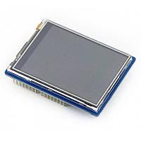 "Дисплей TFT 2.8"" 320x240 HX8347D з резистивним сенсором XPT2046 для Arduino UNO/Leonardo від WaveShare, фото 1"