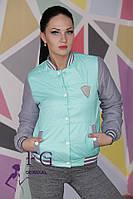 Куртка женская на кнопках мята 004, фото 1