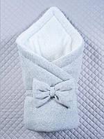 """Зимний конверт-одеяло """"Маленькие стиляжки"""" серый, фото 1"""