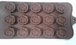 Форма силиконовая для конфет розочки