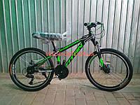 Подростковый велосипед Titan Street 24 дюйма черно-зеленый