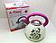 Чайник со свистком 3 литра А-Плюс WK-1389, двойное дно, нержавеющая сталь, термо-рисунок, ручки бакелит, фото 5
